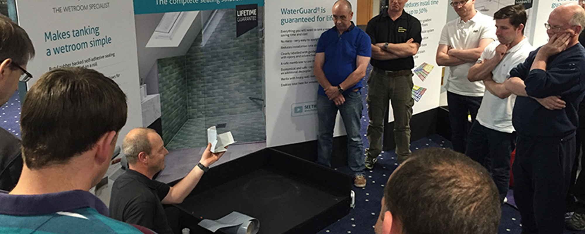 tanking wetroom installer demonstration