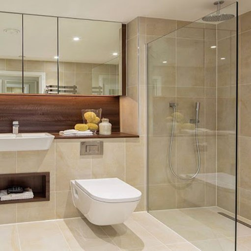 walk in wetroom for luxury commercial building