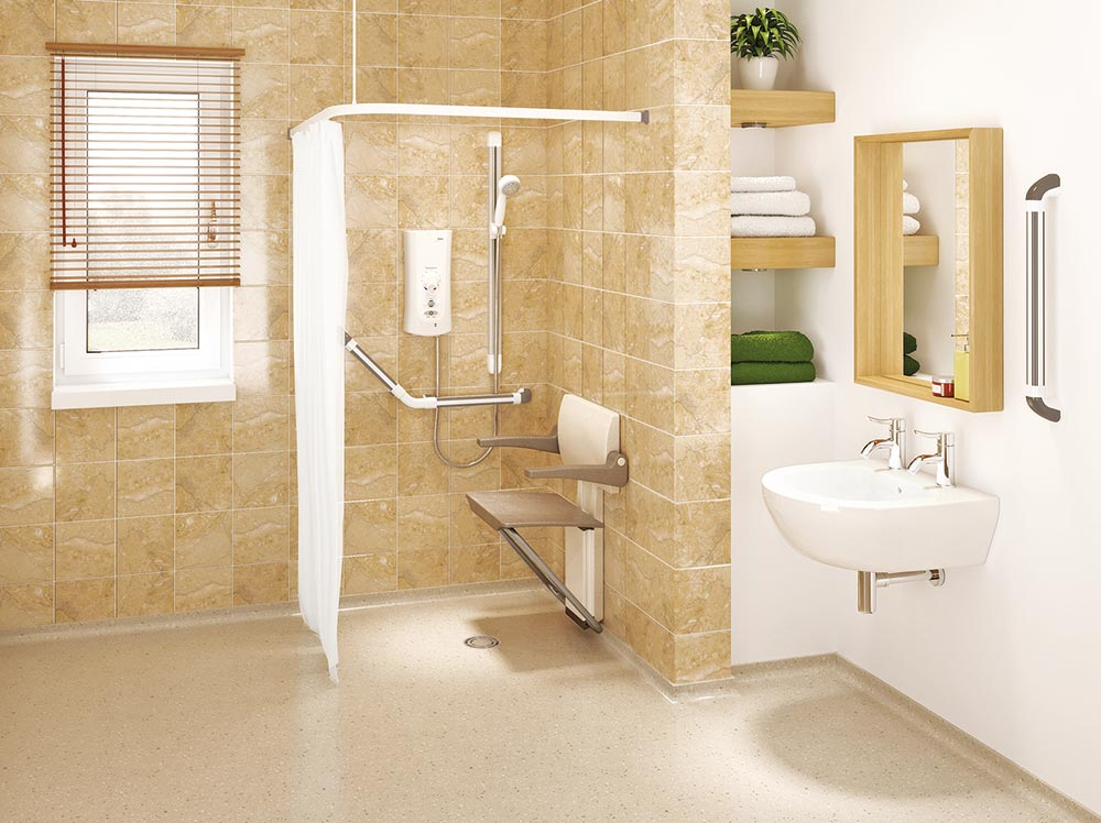 Adaptations Of Shower Spaces For Disabled And The Elderly At