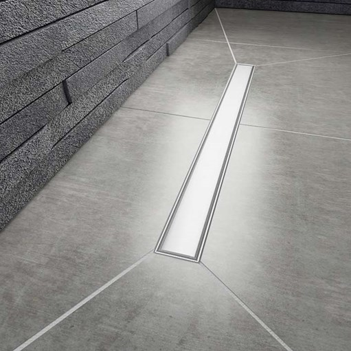 wetroom linear drainage aqua dec