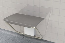 disabled shower bench slimfold grey