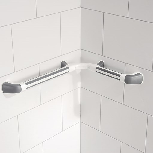 internal corner shower hand rail