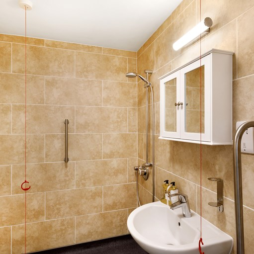 disabled shower room modern tiled