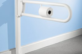 freestanding toilet roll holder in white