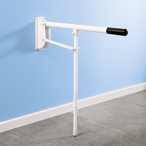 wetroom fold down single leg stand