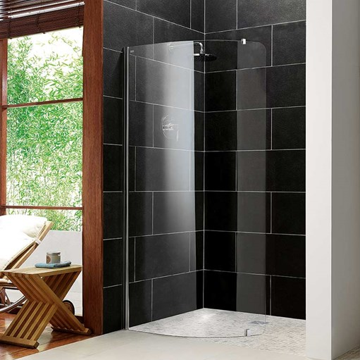 Curved shower screen modern wet room