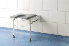 Horseshoe Padded Fold Down Shower Seat