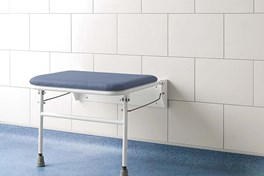 Wide Padded Fold Down Shower Seat