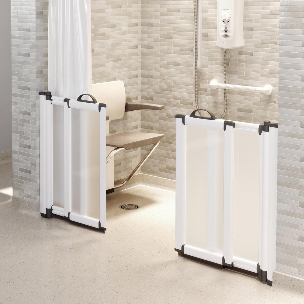 Freeglide Bi Fold Half Height Shower Doors