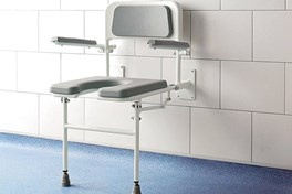 Deluxe Horseshoe Padded Fold Down Shower Seat