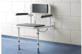 Deluxe Padded Fold Down Shower Seat